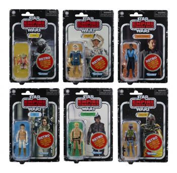 Star Wars The Retro Collection Wave 2 Empire Strikes Back Set of 6 Figures - 10% Deposit Pay Later